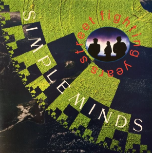 Simple Minds ‎- Street Fighting Years (LP) (VG-/G)
